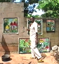 David Mzuguno at his studio in 2000