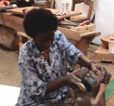 Reinata Sadimba at her studio